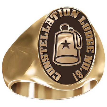Artisan Shriner Fez Ring - 10kt Yellow Gold