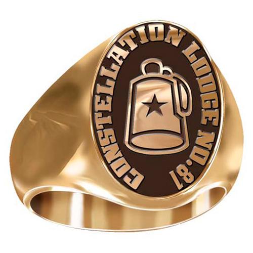 Artisan Shriner Fez Ring - 10kt Yellow Gold