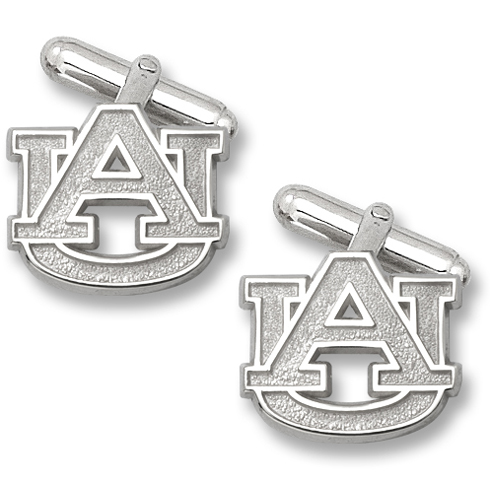 Sterling Silver 5/8in Auburn University AU Cufflinks