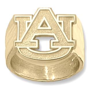 14kt Yellow Gold Auburn University AU Men's Ring