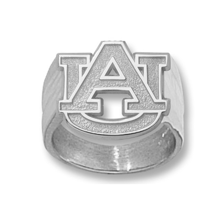 Sterling Silver Auburn University AU Men's Ring