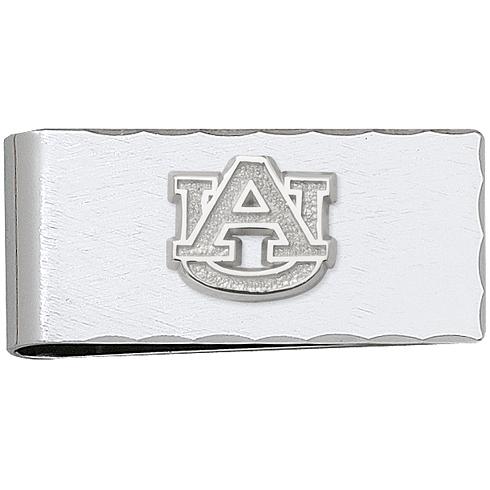 Silver Plated Auburn University Money Clip
