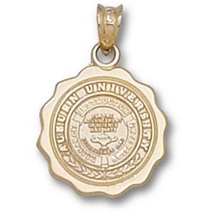 10kt Yellow Gold 5/8in Auburn University Seal Pendant