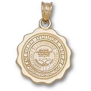 10kt Yellow Gold 5/8in Auburn University Seal Pendant