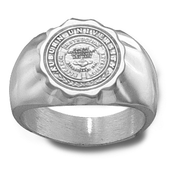Sterling Silver Auburn University Seal Ring
