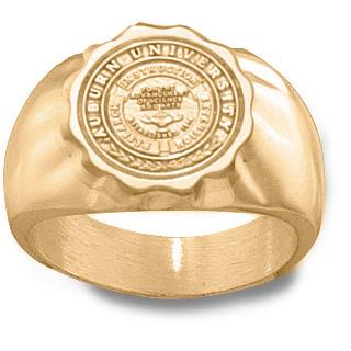 10kt Yellow Gold Auburn University Seal Ring