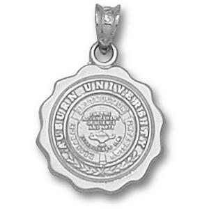 Sterling Silver 5/8in Auburn University Seal Pendant