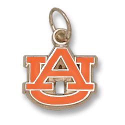 Auburn Tigers 3/8in 14k Enamel AU Pendant