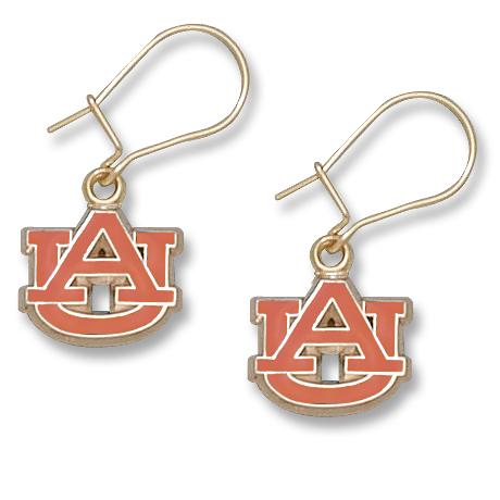 Auburn University 3/8in Earrings 10kt Yellow Gold