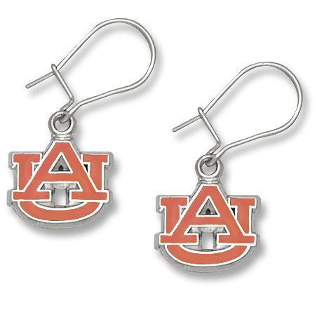 Auburn University 3/8in Earrings Sterling Silver