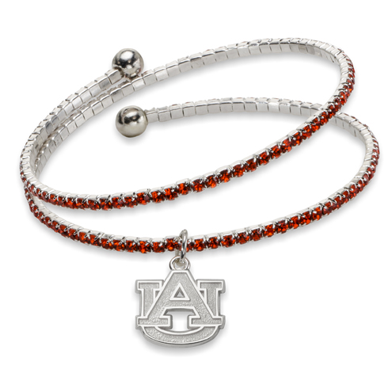 Auburn University Amped Logo Crystal Bracelet