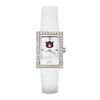 Auburn University Ladies Allure Watch White Leather Strap