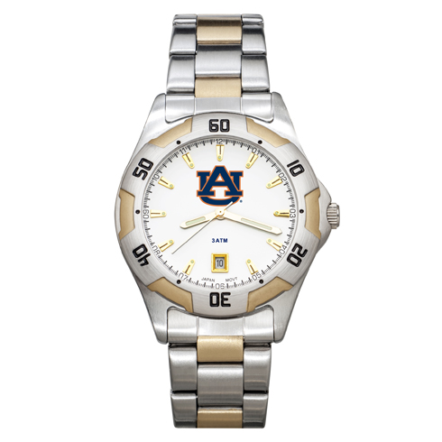 Auburn University All-Pro Men's Two-Tone Watch