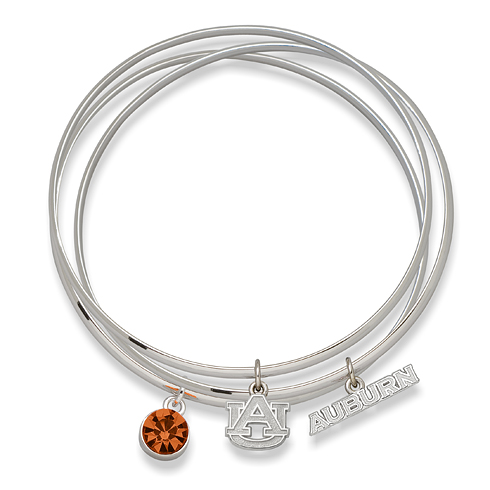 Auburn University Triple Bangle Bracelet