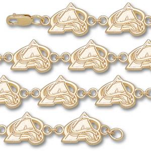 Colorado Avalanche 14k 3/8in Bracelet