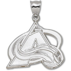 Colorado Avalanche Giant Sterling Silver Pendant