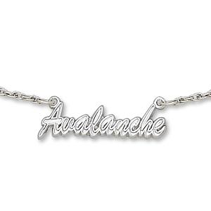Colorado Avalanche 18in Sterling Silver Script Necklace