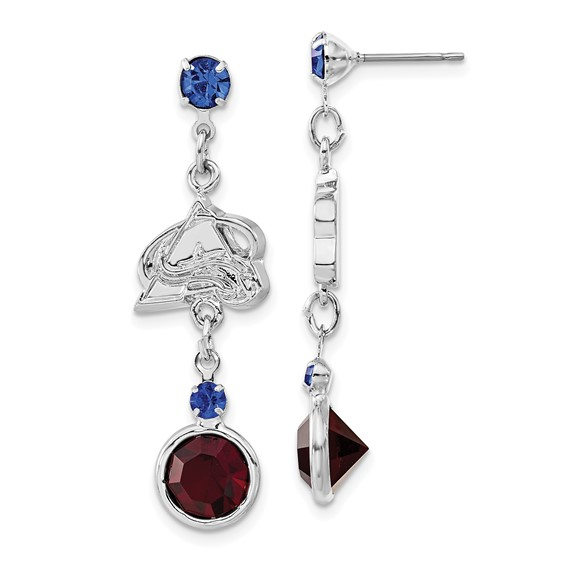 Colorado Avalanche Crystal Logo Earrings