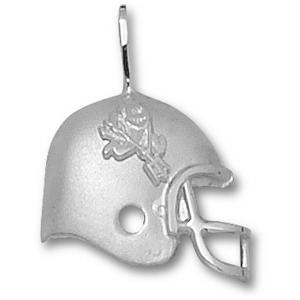 Arizona State 3/4in Sterling Silver Helmet Pendant