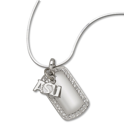 Sterling Silver Arizona State University Mini Dog Tag Necklace