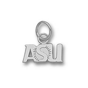 Sterling Silver 1/4in Arizona State Sunburst Charm