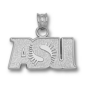 Sterling Silver 3/8in ASU Sunburst Charm