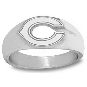 Chicago Bears 3/8in Men's C Ring - Sterling Silver