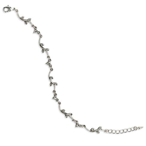 Silver-tone Crystal Vine 7.25in Bracelet