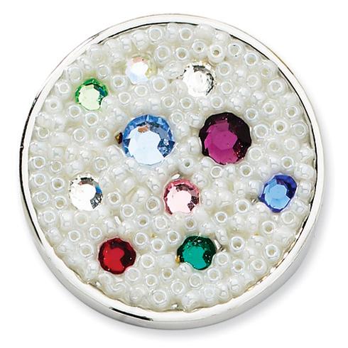 Silver-tone Cultura Glass Pearl Seeded Purse Holder