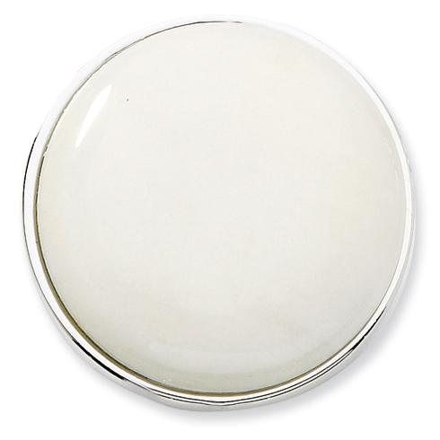 Silver-tone White Quartz Stone Purse Holder