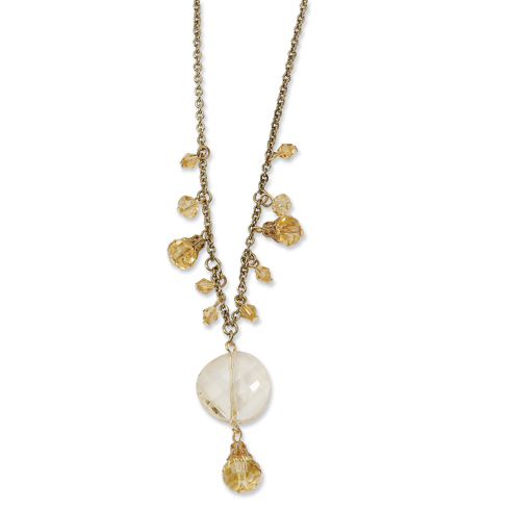 Gold-tone Light Colorado Crystal 16in Necklace