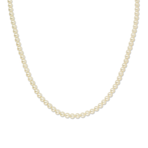 Gold-tone Cultura Glass Pearl 30in Necklace