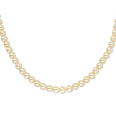 Gold-tone Cultura Glass Pearl 18in Necklace