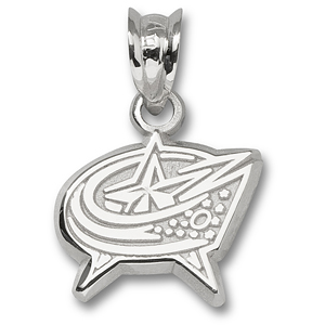 Columbus Blue Jackets 5/8in Star Pendant Sterling Silver