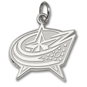 Columbus Blue Jackets 3/8in Logo Charm - Sterling Silver