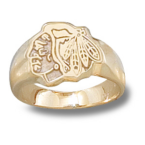 14kt Yellow Gold Chicago Blackhawks Ladies' Ring