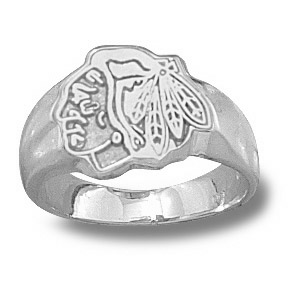 Sterling Silver Chicago Blackhawks Ladies' Ring