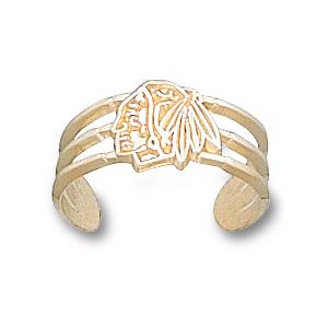 10kt Yellow Gold Chicago Blackhawks Toe Ring