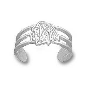 Sterling Silver Chicago Blackhawks Logo Toe Ring