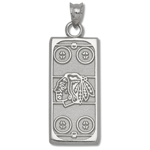 Chicago Blackhawks Rink 1/4in Sterling Silver