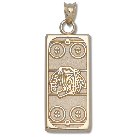 Chicago Blackhawks Rink 14kt Yellow Gold