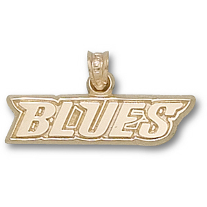 St Louis Blues 1/4in Team Pendant - 14kt Gold