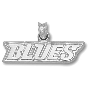 St Louis Blues 1/4in Team Pendant - Sterling Silver
