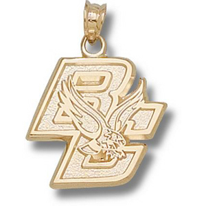 Boston College Eagles 5/8in 10k BC Pendant