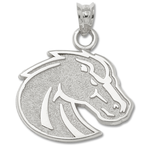 Sterling Silver 5/8in Boise State University Bronco Pendant