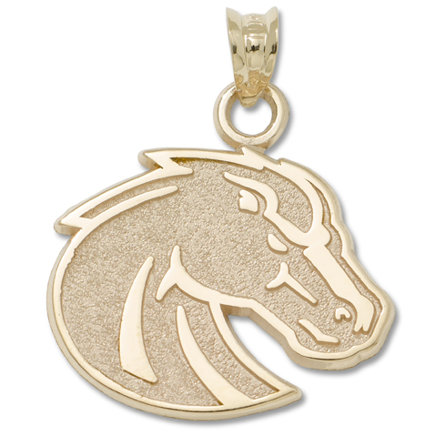 Boise State University 5/8in Pendant 10kt Yellow Gold