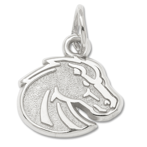 Boise State University 3/8in Pendant Sterling Silver