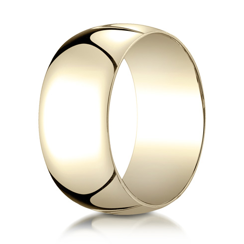 14kt Yellow Gold 10mm Oval Wedding Band