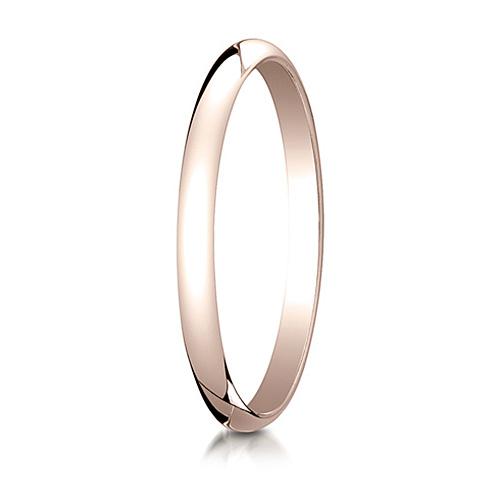 2mm 14kt Rose Gold Oval Wedding Band