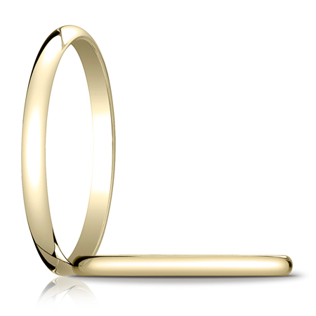 14kt Yellow Gold 2mm Oval Wedding Band